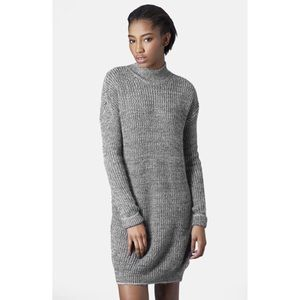 Grey Topshop Sweater Dress